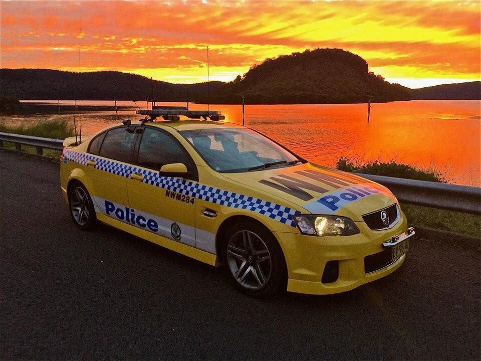 NSW Highway Patrol cruising within the the Royal National