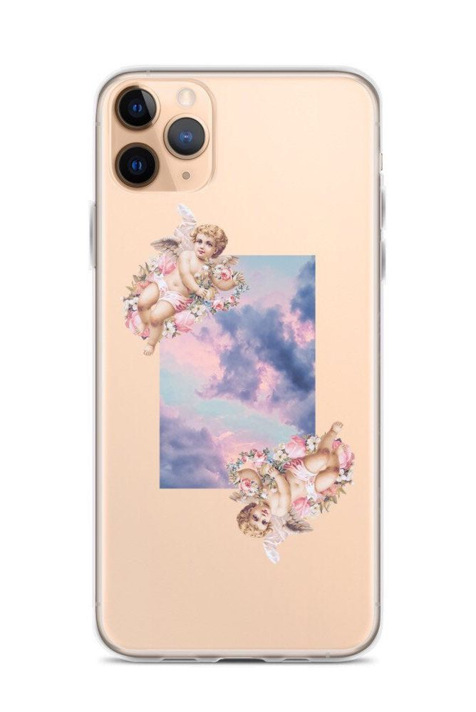 Aesthetic Angel Cherub Clouds Clear Iphone 11 Case With Design Etsy In 2020 Tough Iphone Case Iphone Phone Cases Girly Phone Cases