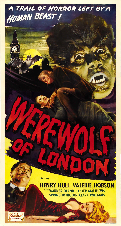 Werewolf Of London 1935 Classic Horror Movies Posters Horror Movie Posters Classic Movie Posters
