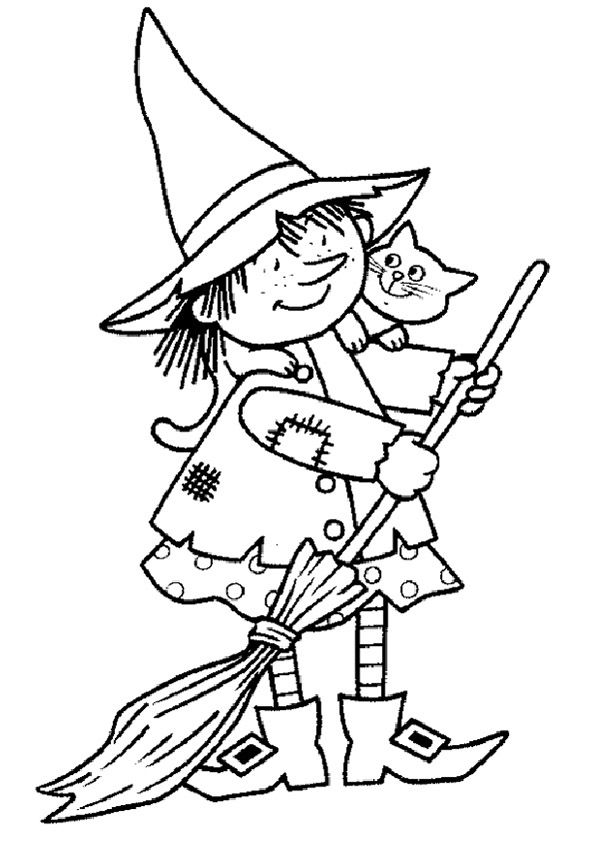 ausmalbilderhexen001 591×841  the little witch