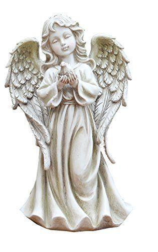 12 25 Napco Angel Girl With Dove Garden Statue Angel Sculpture Angel Statues Sculpture Garden Statues