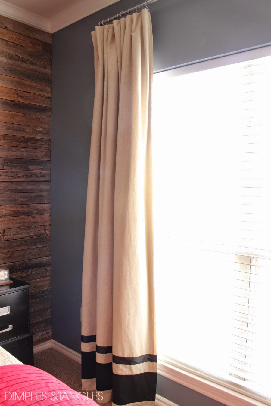 Dimples and Tangles: CUSTOMIZING IKEA CURTAINS AND A DIY ...