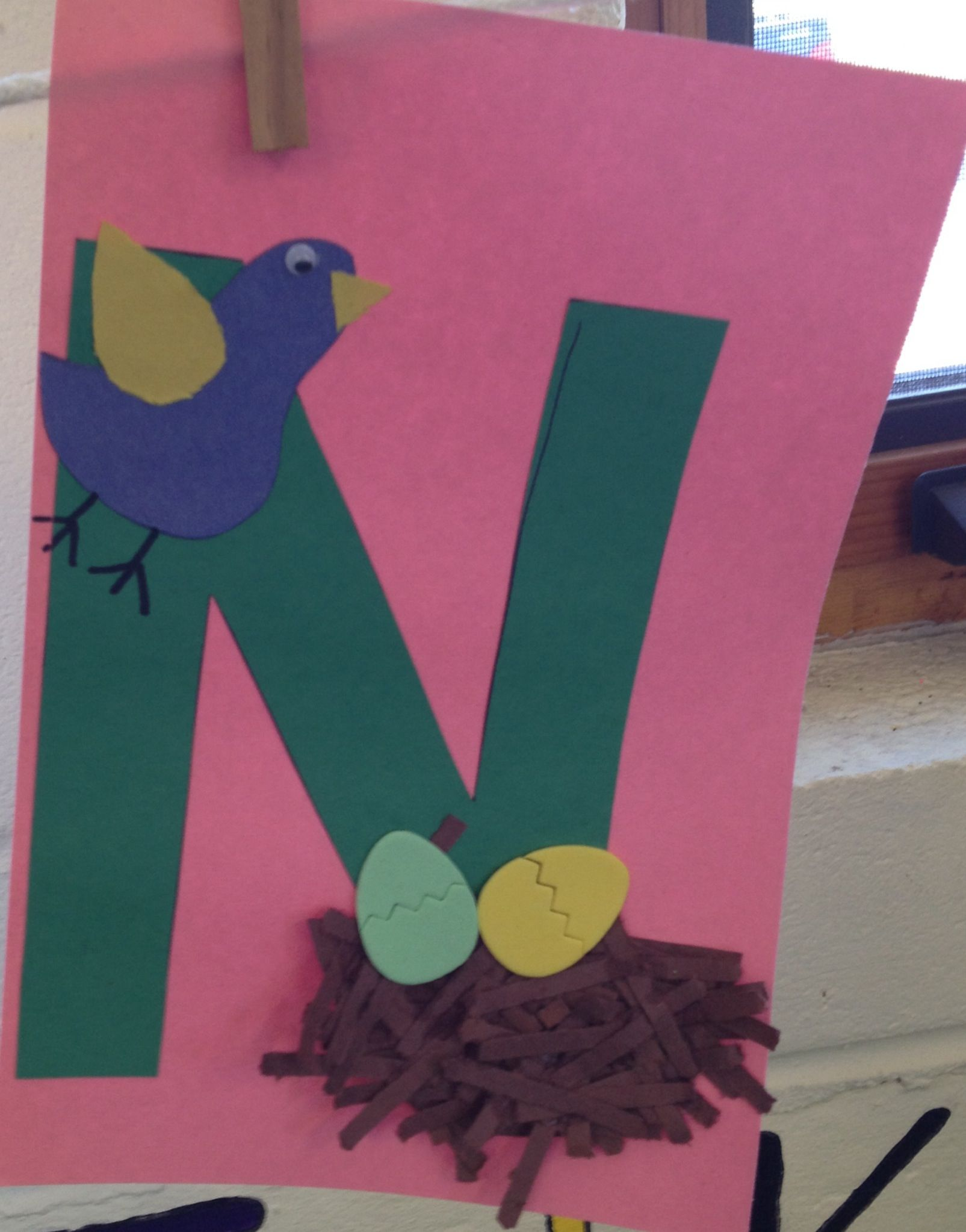 Preschool Letter N Craft With Images