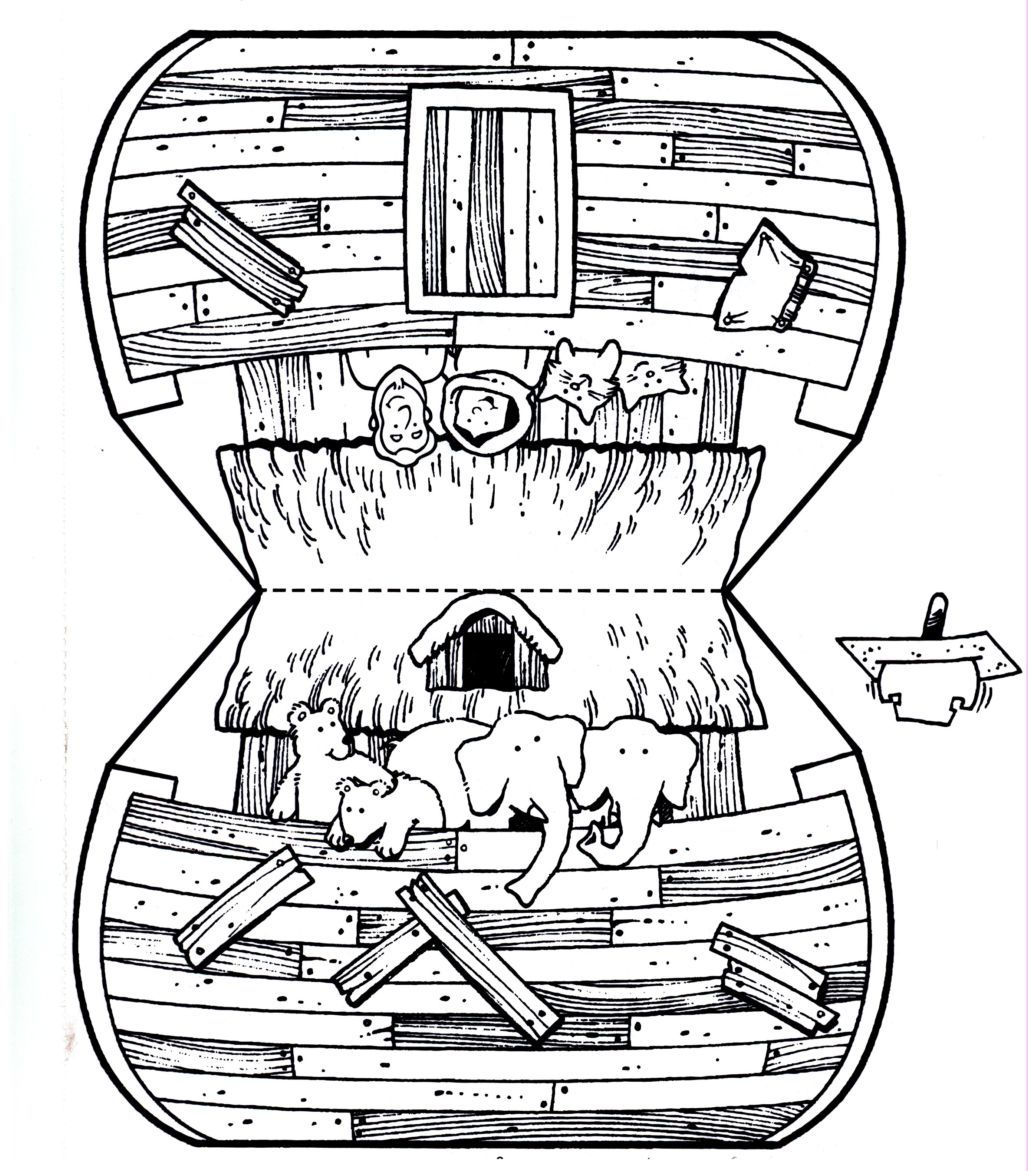 recortable del arca antiguo testamento pinterest sunday