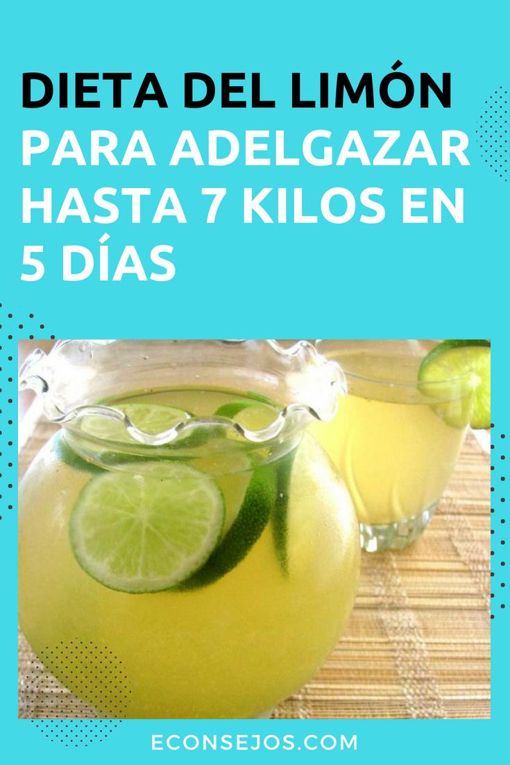 cómo tomar el agua de limón para bajar de peso