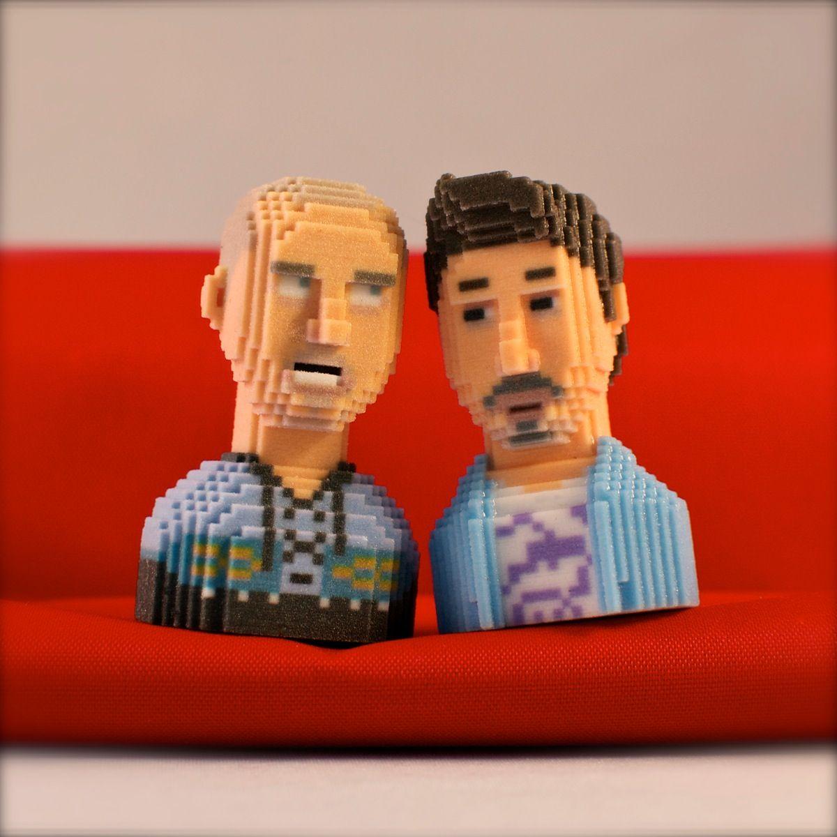 3dprinting Sculpture Artist: NERDZ Revival !!! #leblox #pixelart # 3Dprinting #tribute