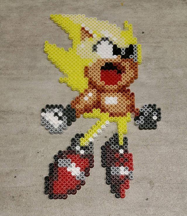 Super Sonic From Sonic The Hedgehog 2 Game By Fluken