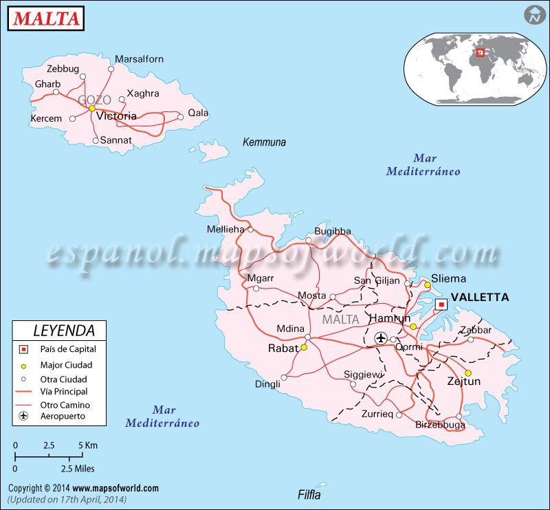 Malta Mapa Mapa De Malta En 2020 Mapa De Malta Mapa De Europa