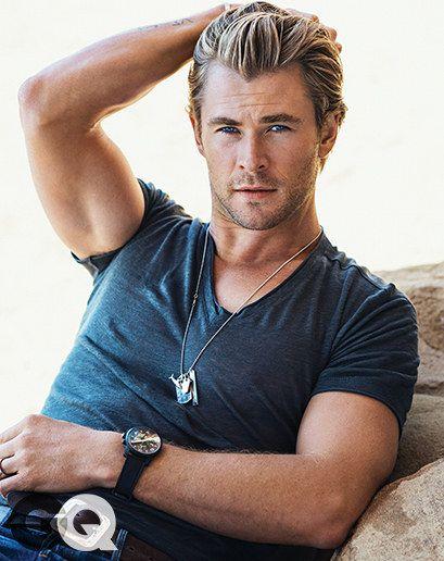 Les vêtements qui font la virilité: Chris Hemsworth   – MEN