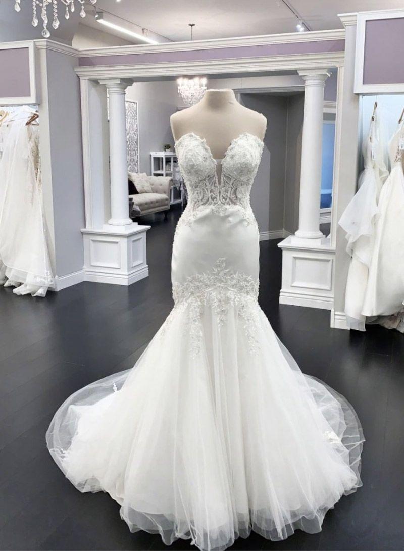White Lace Long Prom Dress Mermaid Evening Dress Wedding Dresses Lace Mermaid Prom Dresses White Lace Prom Dress [ 1091 x 800 Pixel ]