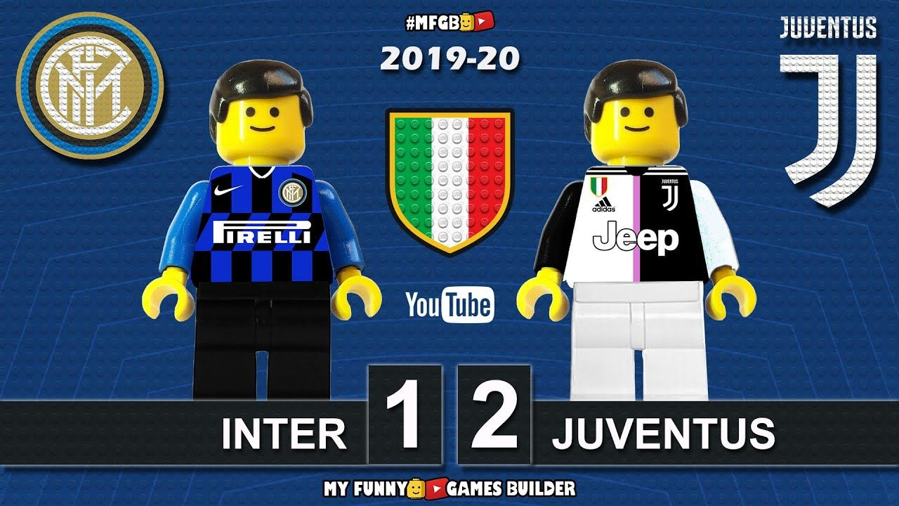 Inter Vs Juventus 1 2 Lego Serie A 2019 20 In 2020 Lego Football Juventus Funny Games