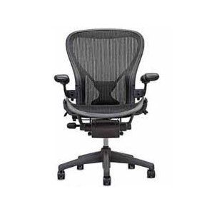 Aeron Chair by Herman Miller - Highly Adjustable Graphite Frame - with PostureFit - Carbon Classic (Large)  http://ww8.cookhousesinks.com/redirector.php?p=B0014YGGKE  B0014YGGKE