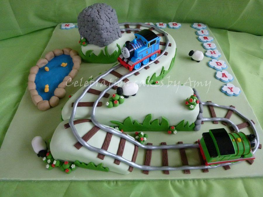 Thomas 2 Shaped Cake Thoroughly Enjoyed Making This Cake Thanks