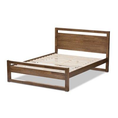Torino Mid Century Modern Solid Wood Open Frame Style Platform