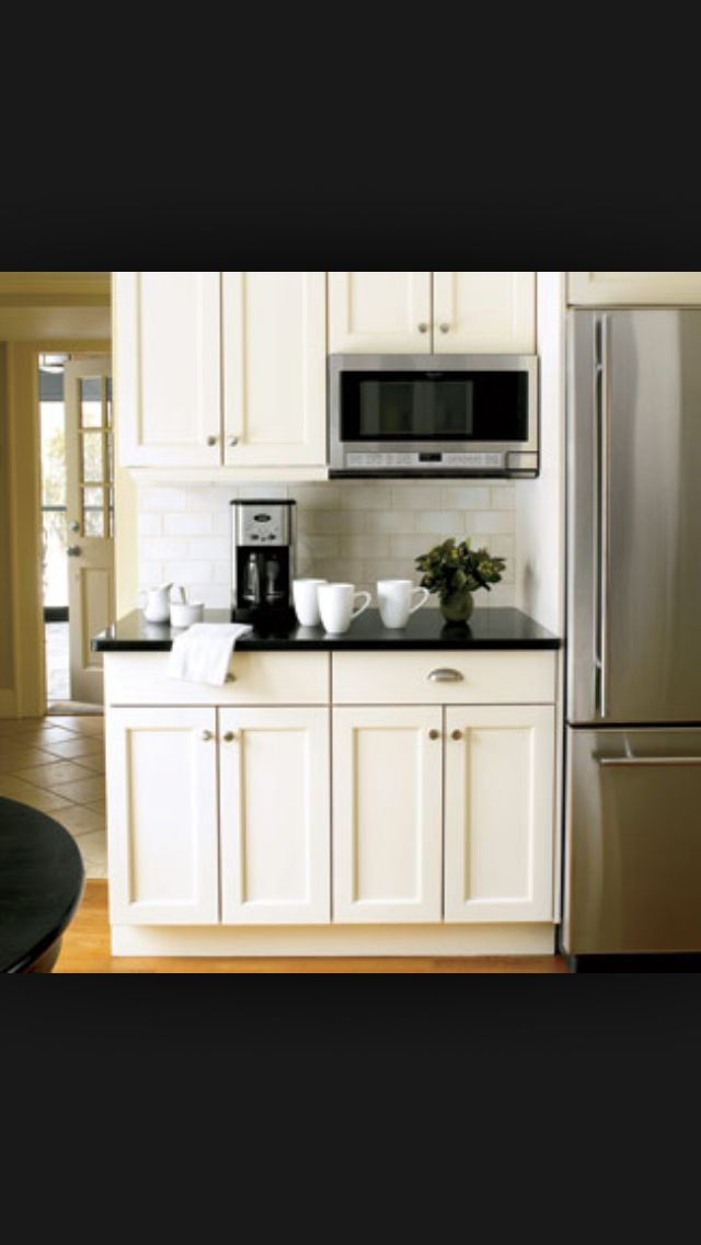 microwave and coffee bar on one side of fridge and pantry on the other refrigerator counter. Black Bedroom Furniture Sets. Home Design Ideas