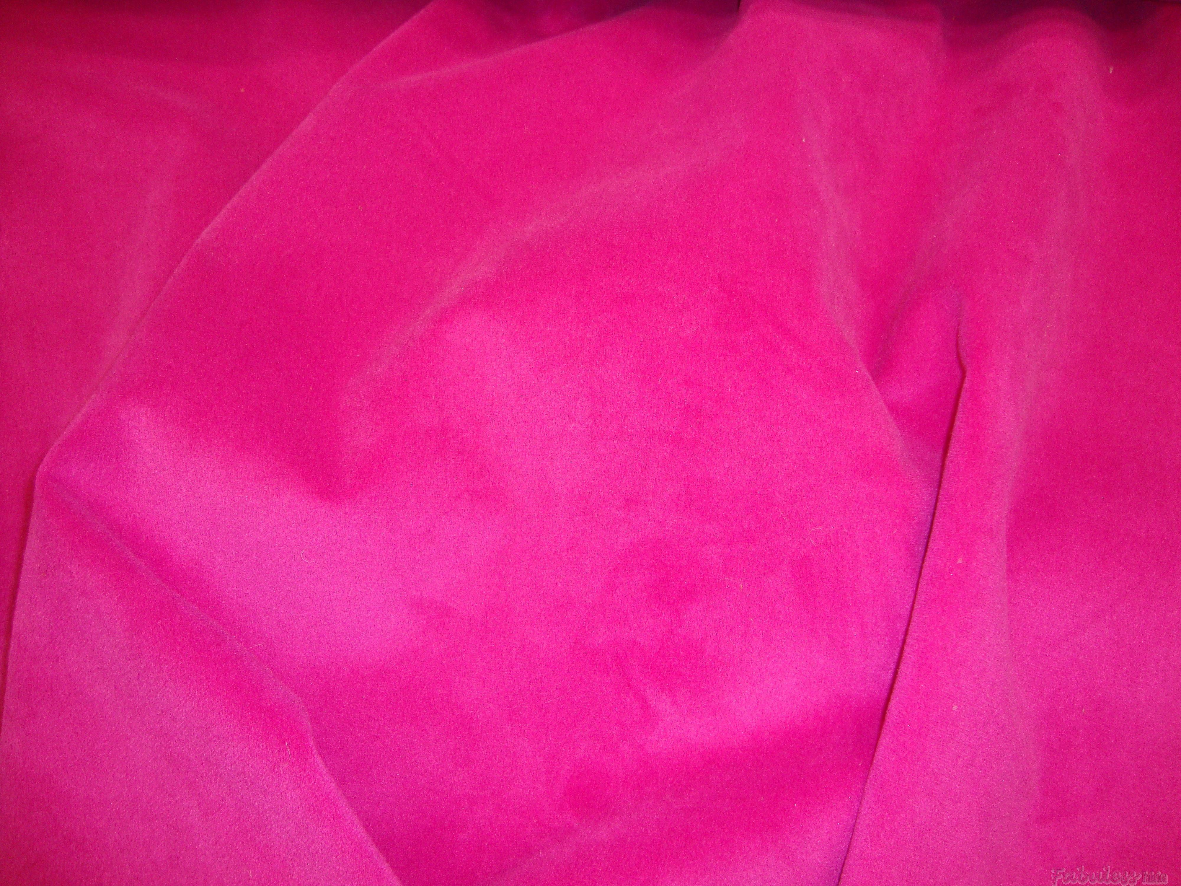 Hot Pink Upholstery Plush Velvet Upholstery Hot Pink Fabric