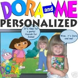 Personalized Dora birthday DVD Baby Bella Pinterest Birthdays