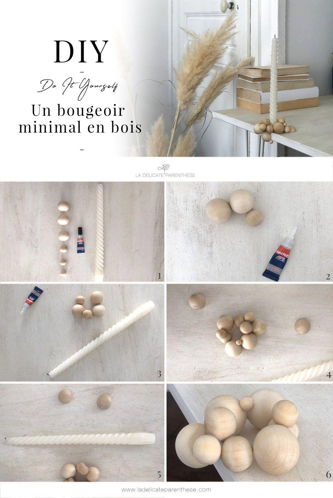 [ DIY ]Un bougeoir minimal en bois - La Délicate Parenthèse   DIY déco et inspiration déco #déco #stayINspired #home