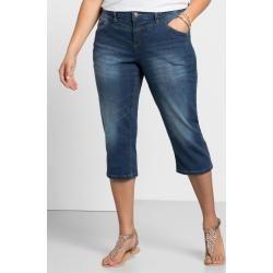 Große Größen: Schmale Capri-Stretch-Jeans, blue Denim, Gr.50 Sheego
