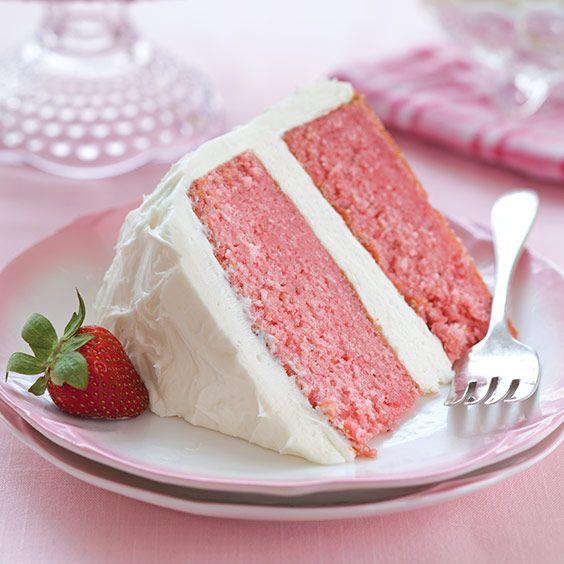Strawberry Cake with White Chocolate Cream - Paula Deen Magazine