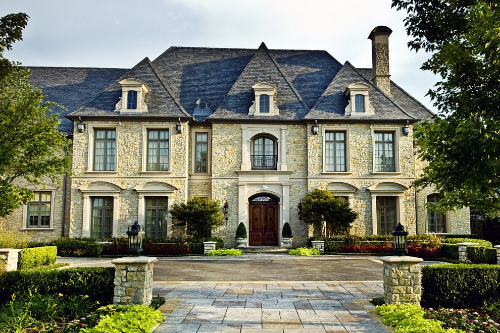French Roof Lines Contemporary Luxury Mansion French