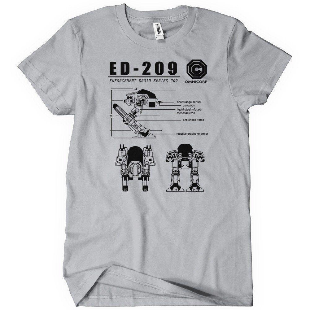 efb30889a ED-209 Blueprint Omnicorp Robocop | t shirts | T shirt, Mens tops ...