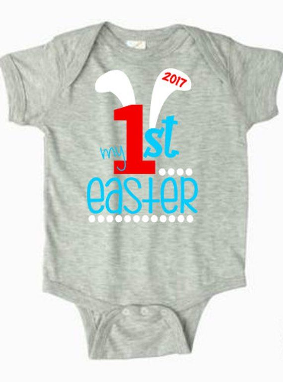 baby Boy first easter onesie,my 1st easter,easter bunny shirt,easter ...