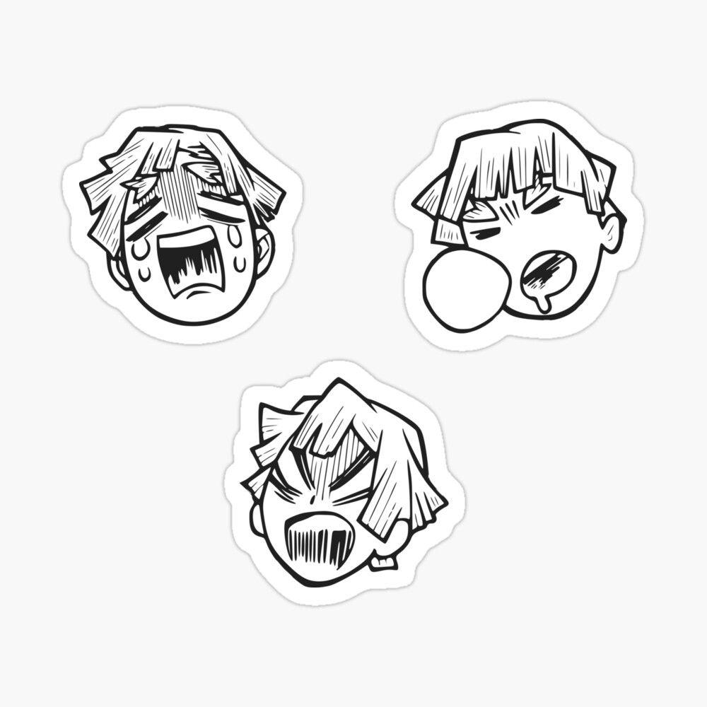 Kimetsu No Yaiba Zenitsu Sticker By Welcometojapan Anime Printables Cute Laptop Stickers Kawaii Stickers [ 1000 x 1000 Pixel ]