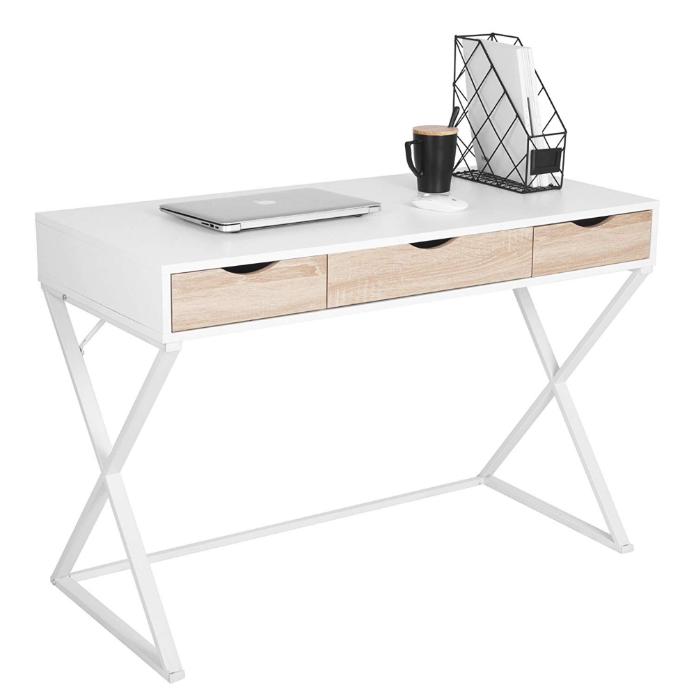 Woltu Ts40ws Bureau D Ordinateur Table De Bureau Table De Travail Pc Table D Ordinateur Portab Table Bureau Bureau D Ordinateur Table Pour Ordinateur Portable