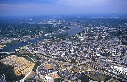 Aerial photo of Downtown Chattanooga, Hamilton County