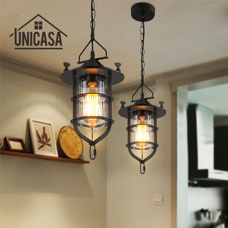 Modern pendant lights glass shade wrought iron bar lighting fixtures modern pendant lights glass shade wrought iron bar lighting fixtures kitchen island office hotel antique mini ceiling lamp aloadofball Image collections