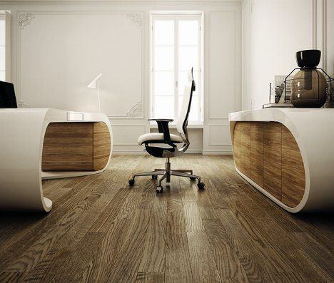 Design At Work: Sleek, Sophisticated Executive Office Desk. The Goggle Desk  From Italian