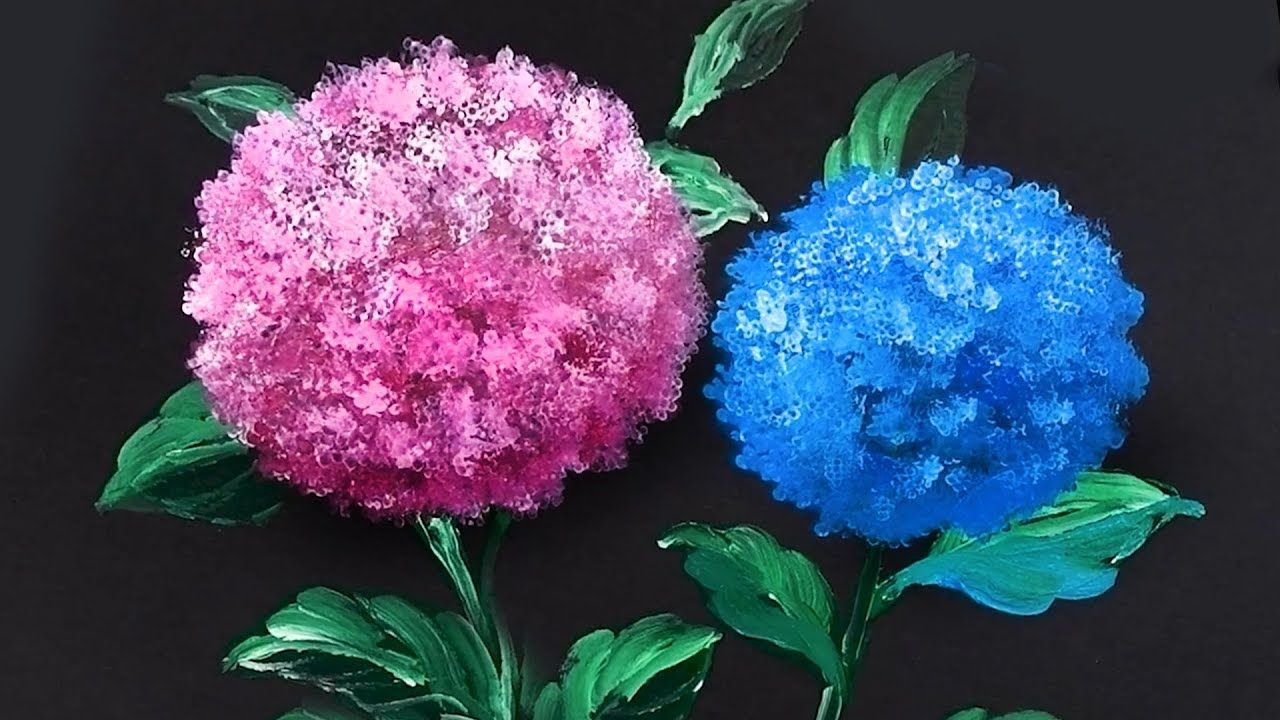 'Hydrangea' Acrylic Painting Technique for Beginners ...