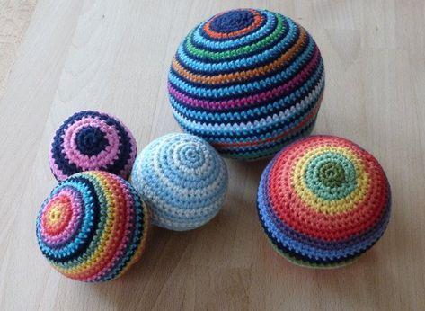 Häkelanleitung für Bälle in 5 Größen #knittingpatternstoys