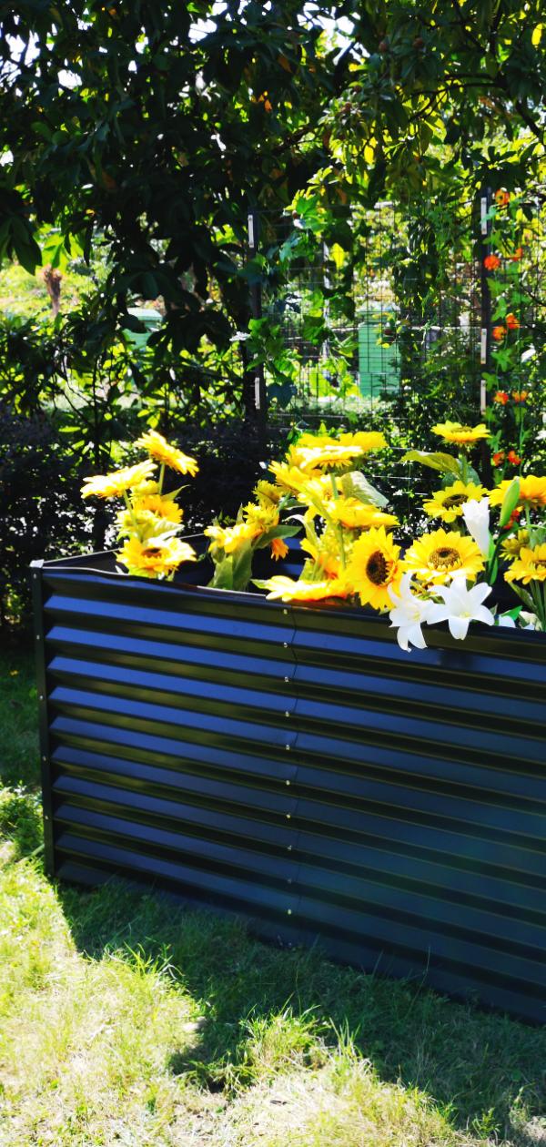 Outflexx Hochbeet Anthrazit Zincalume Pulverbeschichtet 180 X 90 X 84 Cm Gartenmoebel De In 2020 Hochbeet Garten Design Beete