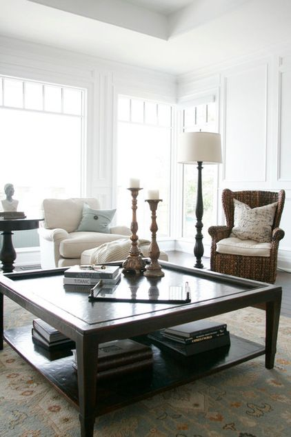 Big Square Coffee Table For Family Room Should Be Same Height As