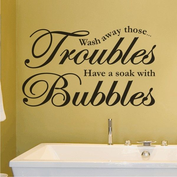 For The Bathroom Quote In Different Lettering And Size Home - Cute sayings for bathroom walls