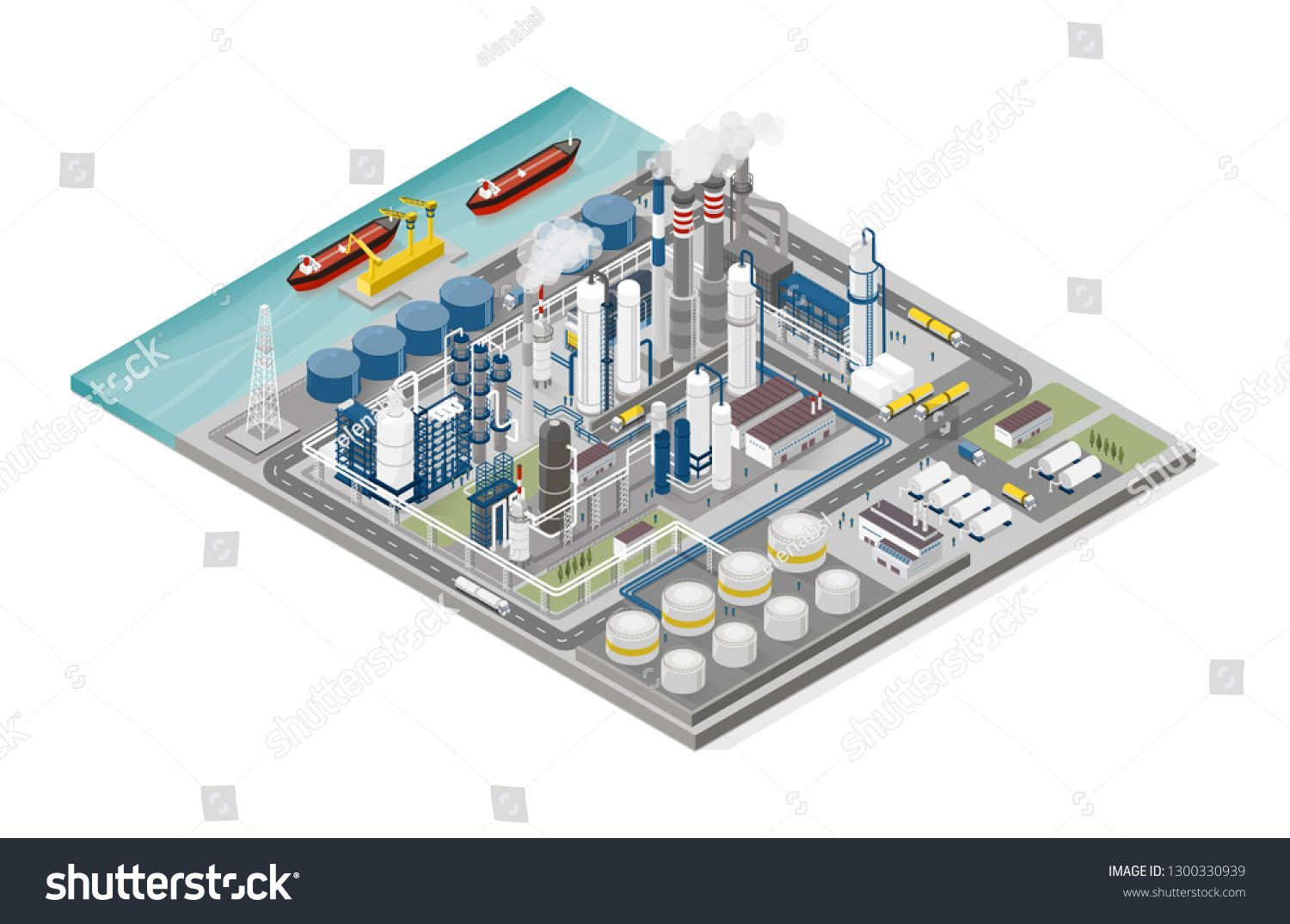 Oil And Gas Industry And Production Process Infographic Isometric Refinery Pipeline And People Working Sponsore Process Infographic Gas Industry Oil And Gas