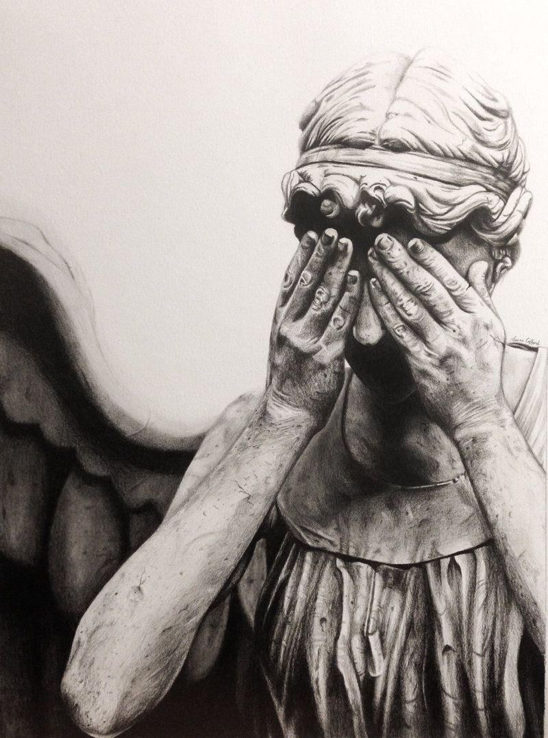 Weeping Angel Drawing By Myawho On Deviantart Angel Drawing Doctor Who Tattoos Weeping Angel