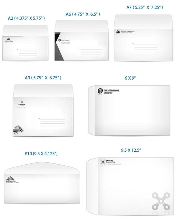 Envelope Sizes  Envelopes    Envelope Sizes Envelopes