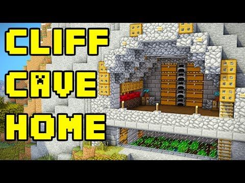 How To Build A Cliff House In Minecraft Tutorial Minecraft