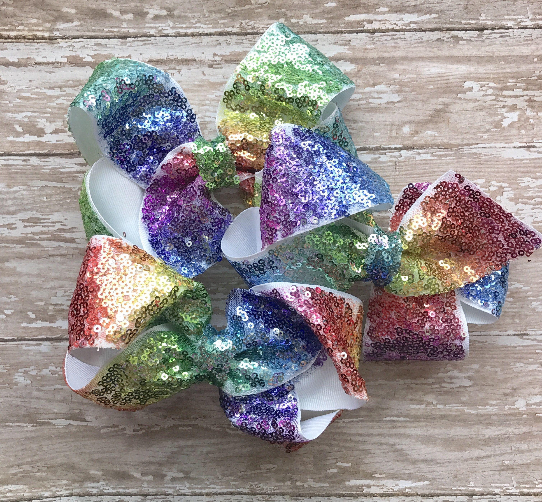 Rainbow Sequin Clips