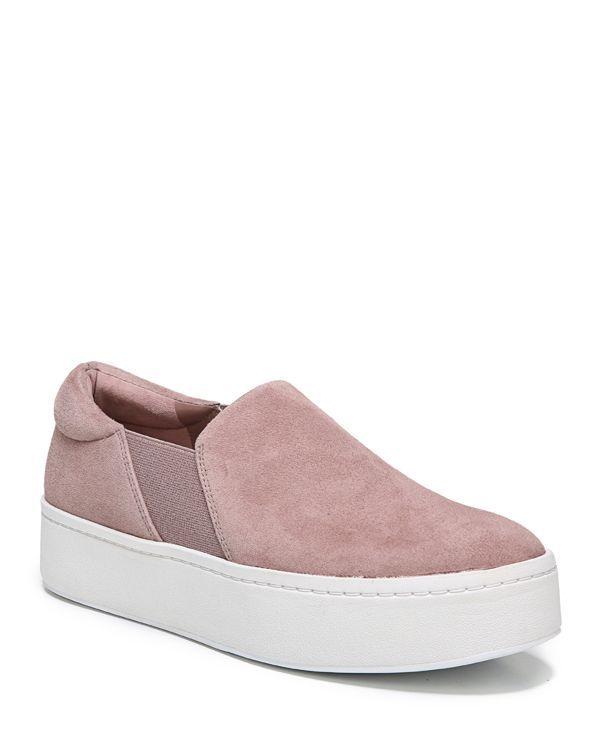 33e44fcff26 Vince Warren Suede Platform Slip-On Sneakers