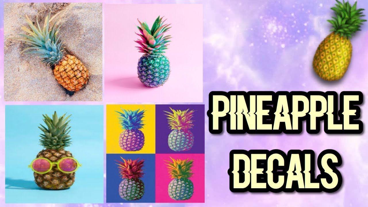 Roblox Bloxburg Pineapple Decal Id's YouTube