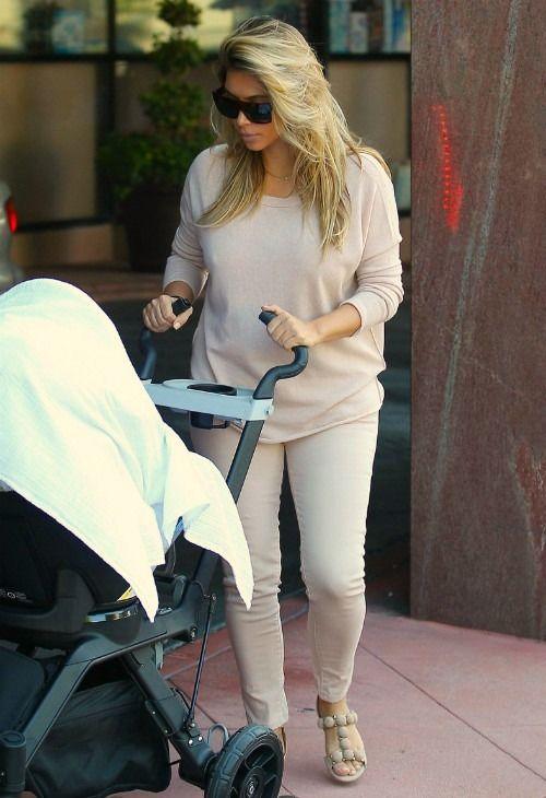 03edba81ecfc Kim Kardashian wearing Celine Shadow Ombre Sunglasses. Kim Kardashian With  baby North October 10 2013.