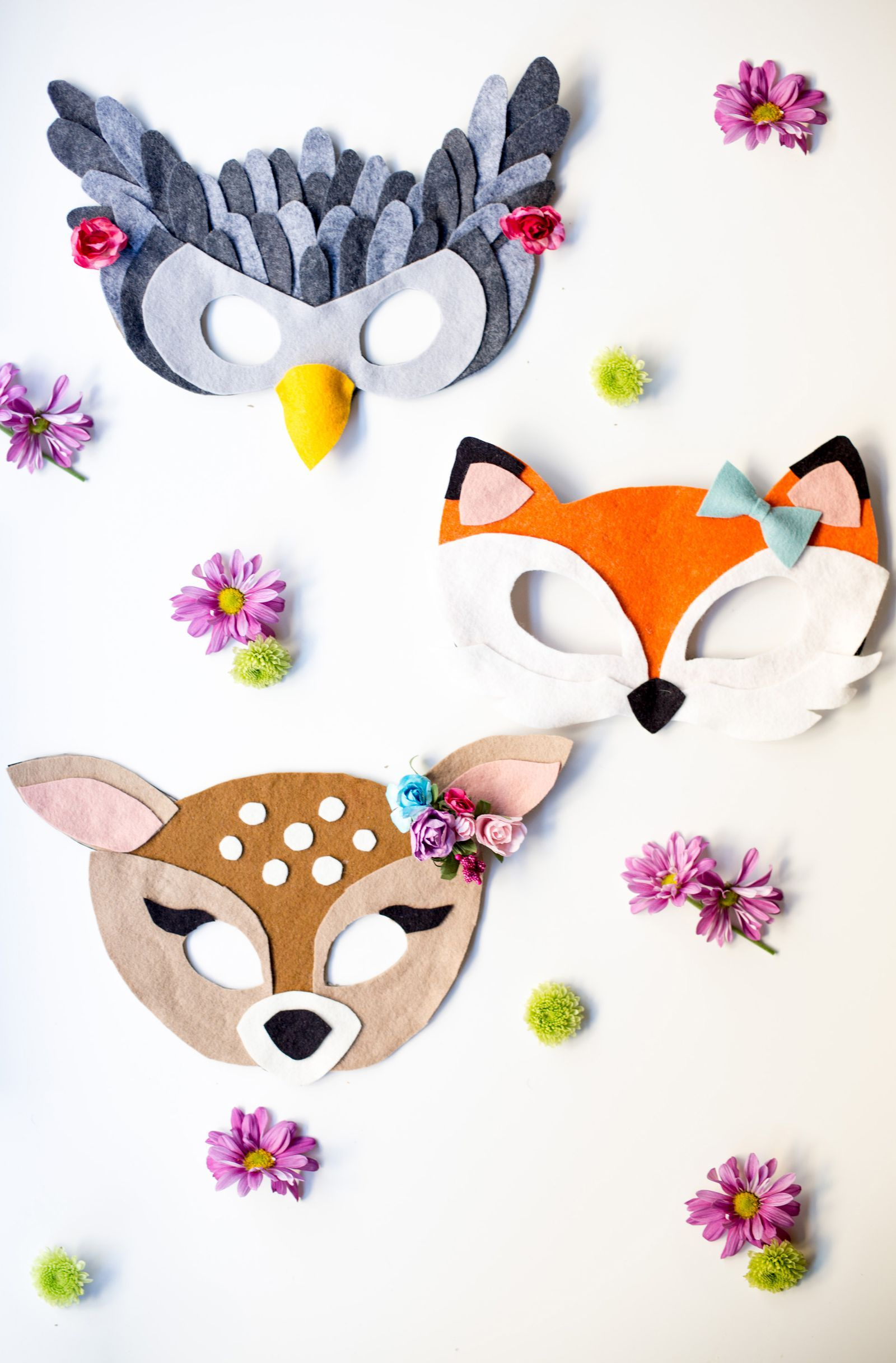 Masks For The Perfect Costume No Sew Felt Animal Maskscountryliving Halloween Diy Idea