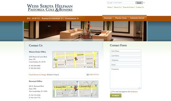 Lawyer Web Design By Paperstreet Www Paperstreet Com With Images Web Design Florida Law Law Firm
