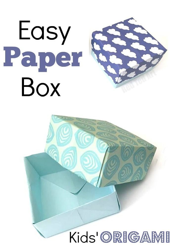 257ed074715a How to make a Paper Box - This Gift Box DIY is a great tutorial for anyone  wanting to make a simple and easy paper box.