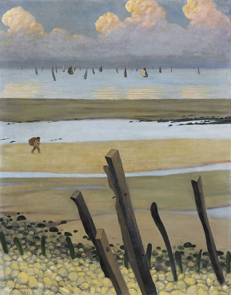 Felix Vallotton Swiss 1865 1925 Maree Basse A Villerville Low Tide At Villerville 1922 Art Paysagiste Villerville Les Arts