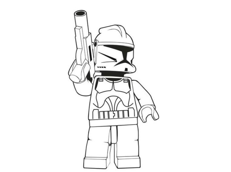 Download And Print Lego Stormtrooper Star Wars Coloring Pages